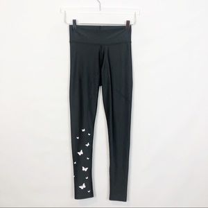 Electric Yoga Black Butterfly Print Legging Small